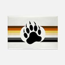 Gay Bear Pride Stripes Bear Paw Magnets
