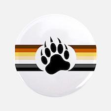 """Gay Bear Pride Stripes Bear Paw 3.5"""" Button"""