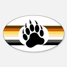Gay Bear Pride Stripes Bear Paw Decal