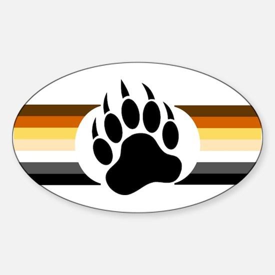 Gay Bear Pride Stripes Bear Paw Decal