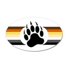 Gay Bear Pride Stripes Bear Paw Wall Decal