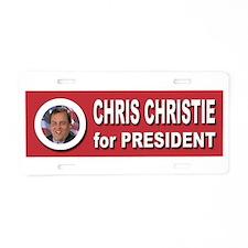 Chris Christie for Presiden Aluminum License Plate