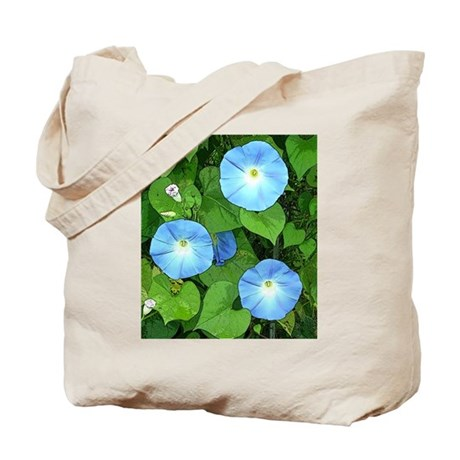Morning Glory and Sunflower Tote Bag