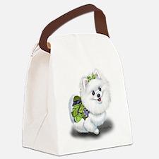 Sophia Pomeranian Mega Star Canvas Lunch Bag