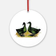 Cayuga Ducks Ornament (Round)