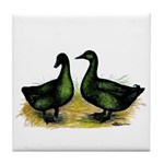 Cayuga Ducks Tile Coaster