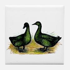 Cayuga Ducks Tile Coaster