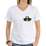 Cayuga Ducks Women's V-Neck T-Shirt