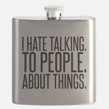 I Hate Talk To People Flask