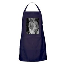 Little Girl with Easter Egg B & W Apron (dark)
