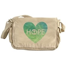 Hope in Jesus Heart Messenger Bag
