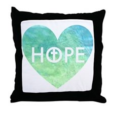 Hope in Jesus Heart Throw Pillow