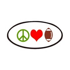PEACE LOVE FOOTBALL Patches