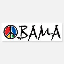 Obama Peace Bumper Car Car Sticker