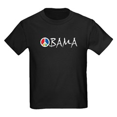 Obama Peace Kids Dark T-Shirt