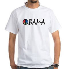 Obama Peace White T-Shirt