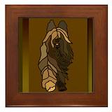 Briard Framed Tiles