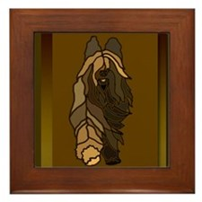 Cute Briard Framed Tile