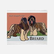 Cute Briard Throw Blanket