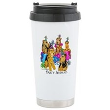 Airedale Party Animals Travel Mug