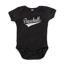 Baseball, Retro, Baby Bodysuit