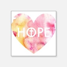 "Hope in Jesus Square Sticker 3"" x 3"""