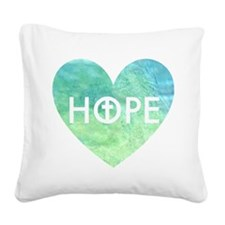Hope in Jesus Square Canvas Pillow