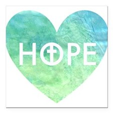 "Hope in Jesus Square Car Magnet 3"" x 3"""