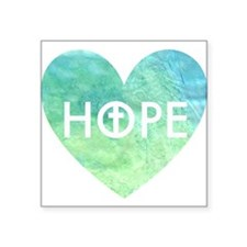 "Hope in Jesus Square Sticker 3"" x 3"""