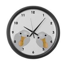 Goose Who Large Wall Clock