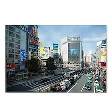 shibuya crossing Postcards (Package of 8)