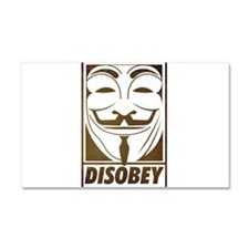 disobey Car Magnet 20 x 12