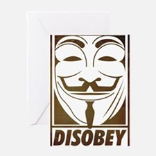 disobey Greeting Cards