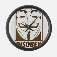 disobey Large Wall Clock
