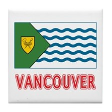 Vancouver BC Flag Tile Coaster