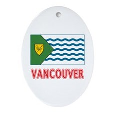 Vancouver BC Flag Ornament (Oval)