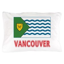 Vancouver BC Flag Pillow Case