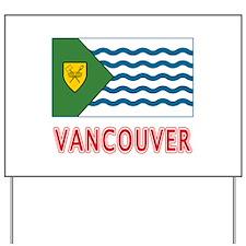 Vancouver BC Flag Yard Sign