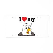 Love My Eagle Aluminum License Plate