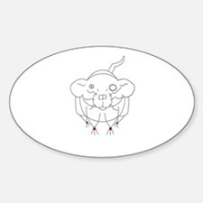 Goth Crownless Dumbo Oval Decal