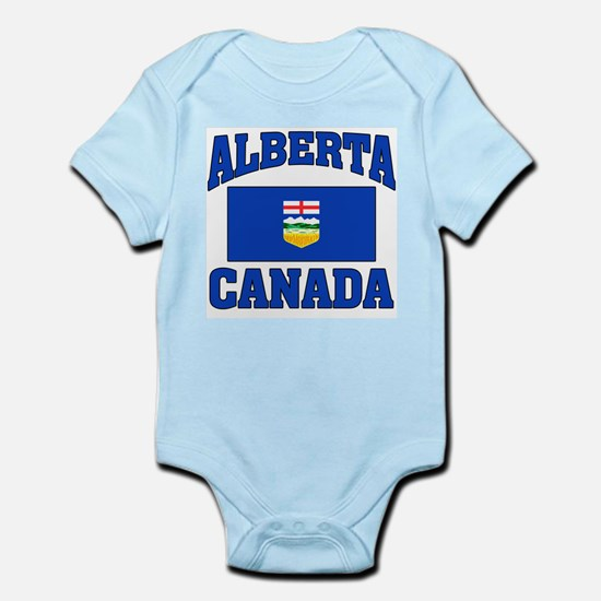 Alberta Canada Flag Infant Bodysuit