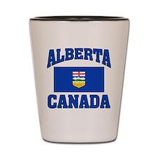 Alberta Canada Flag Shot Glass