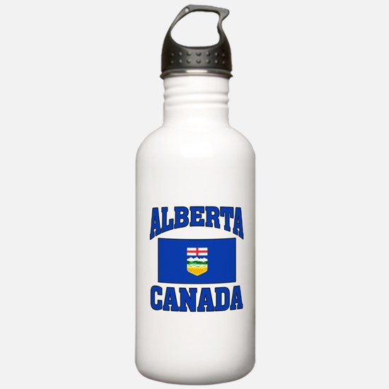 Alberta Canada Flag Water Bottle