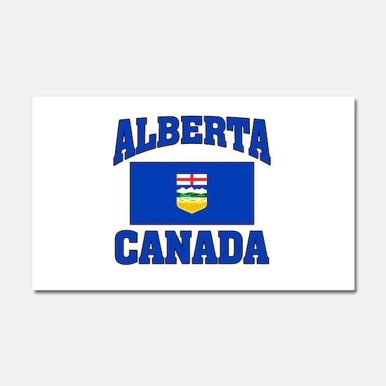 Alberta Canada Flag Car Magnet 20 x 12