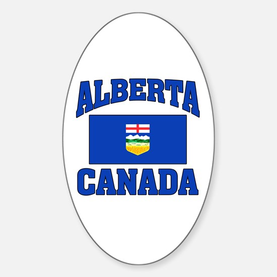 Alberta Canada Flag Sticker (Oval)