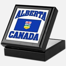 Alberta Canada Flag Keepsake Box