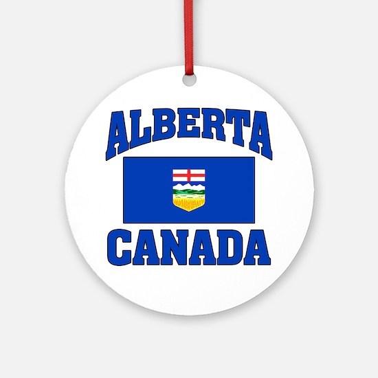 Alberta Canada Flag Ornament (Round)