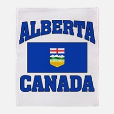 Alberta Canada Flag Throw Blanket