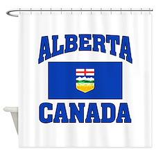 Alberta Canada Flag Shower Curtain