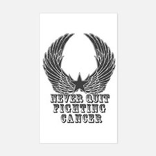 Never Quit Fighting Cancer Decal